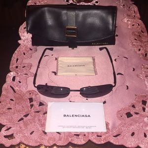 Balenciaga Accessories - Balenciaga vintage style logo allover sunglasses
